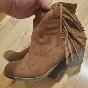 Rock & Candy Brown Fringe Bootie